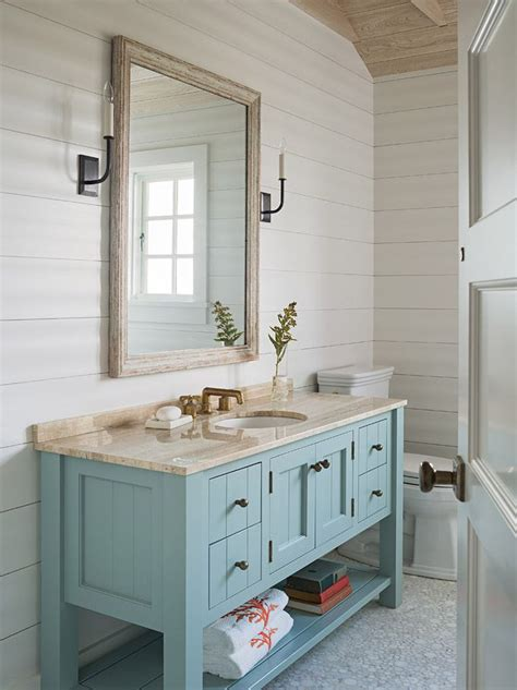 Coastal Bathroom Vanity Beautiful Bath Decor Pinterest Vanities Cabinets And House
