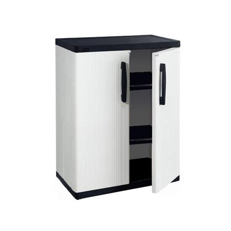 Plastic Cabinets With Doors Shop Enviro Elements 34 5 In W X 36 25 In H X 17 5 In D Plastic Garage Cabinet At Lowes