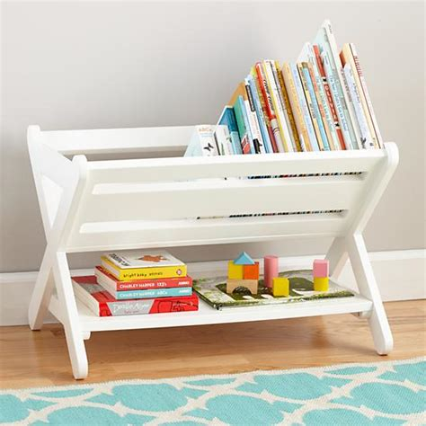 book storage kids good read trough book caddy white the land of nod