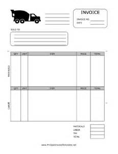 concrete template concrete invoice template