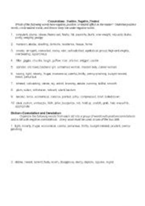 Connotation And Denotation Worksheets For Middle School by Connotation And Denotation Worksheets Worksheets