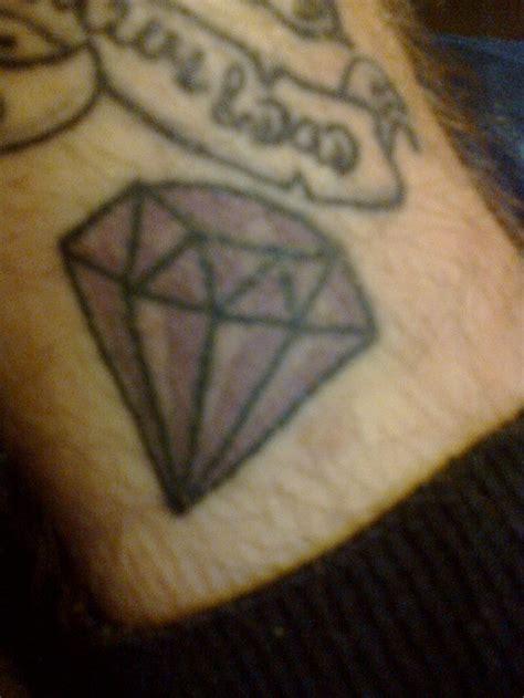 diamond tattoo purple purple black diamond tattoo on leg tattoomagz