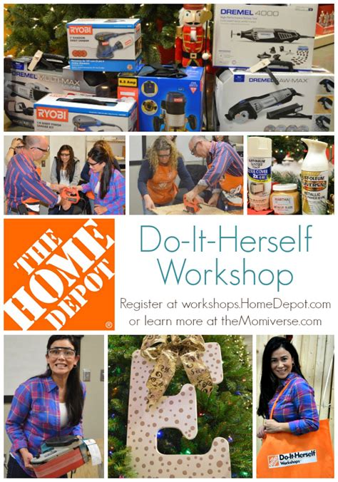 the home depot do it herself workshop dihworkshop the