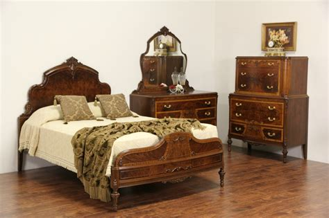 Sold Bedroom Set Full Size 1930 S Vintage Carved Walnut | sold bedroom set full size 1930 s vintage carved walnut
