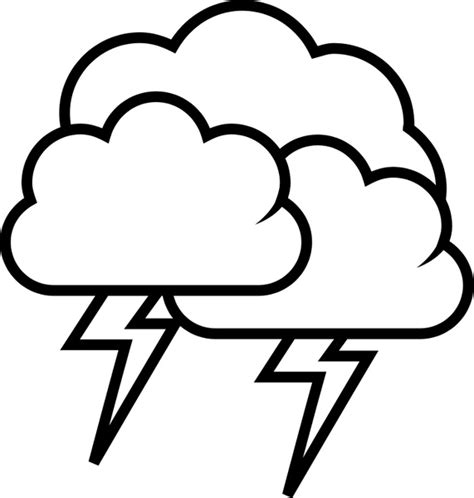 tango weather storm outline free vector in open office