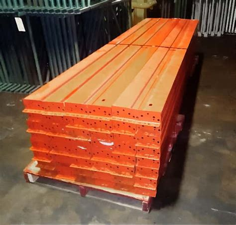 used pallet rack teardrop beam 132 quot material handling