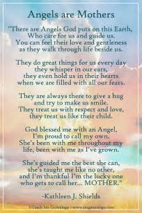 Angels are mothers poem by kathleen j shields teach me genealogy