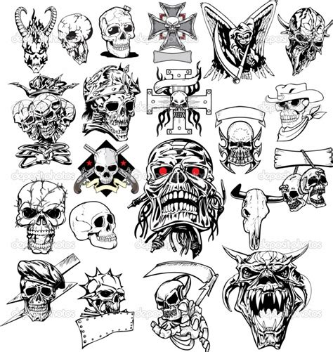 little skull tattoo designs many skull sketch design