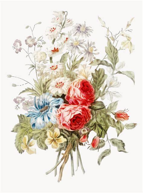 vintage illustratie van boeket bloemen vector gratis