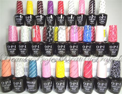 opi shellac colors opi gelcolor soak gel nail led uv your