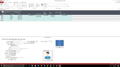ms access employee database template ms access employee database ideal vistalist co
