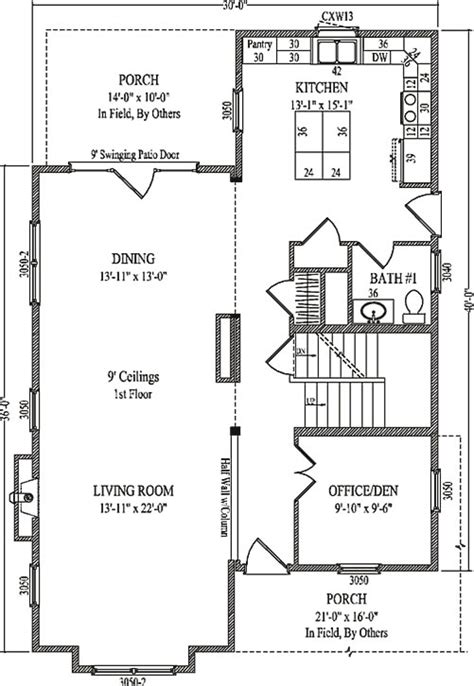 carlin by wardcraft homes two story floorplan
