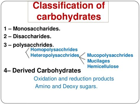 carbohydrates classification carbohydrates