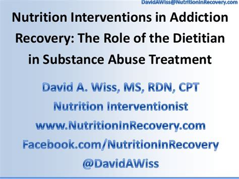 Detox Substance Abuse Treatment by Nutrition Interventions In Addiction Recovery The Of