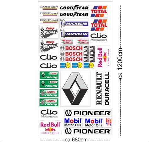 Tuning Hersteller Aufkleber by Renault Clio Autoaufkleber Sponsoren Marken Aufkleber