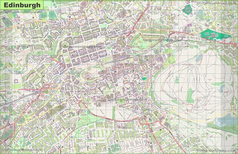 printable maps edinburgh large detailed map of edinburgh