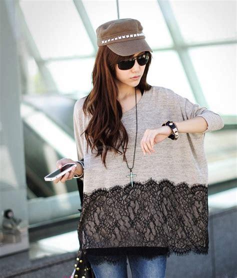 Debora Blouse H Fit Xl fashion style lace hem fit blouse for