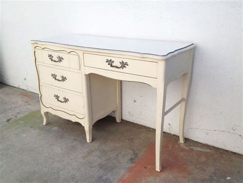 antique desk mid century desk white