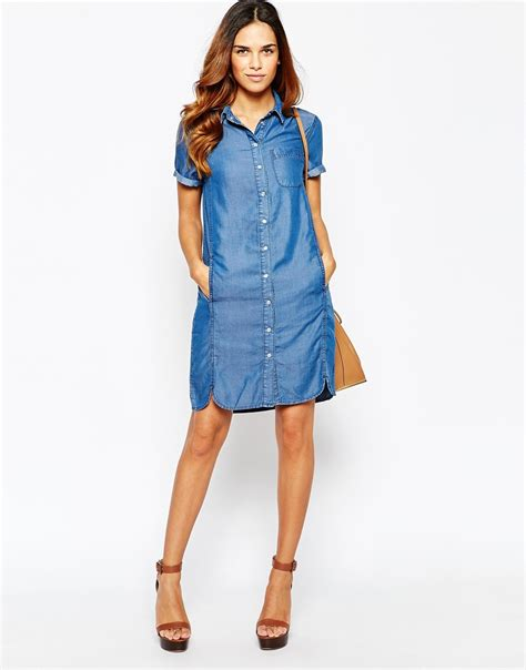 Denim Mix Dress mix the styles with denim shirt dress