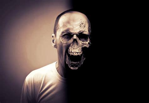 tutorial photoshop skull face photoshop half skull face youtube