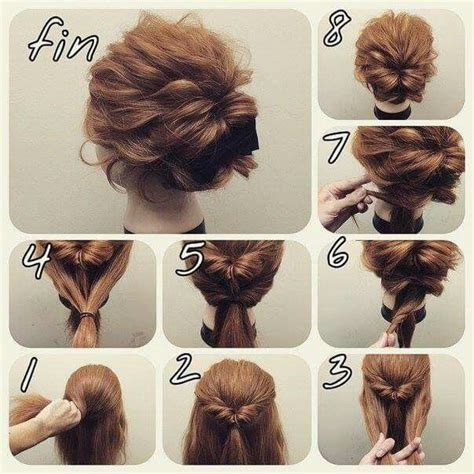 homecoming hairstyles step by step messy look bun which might hold my thick layered hair in