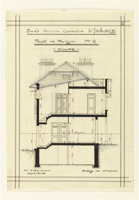 Cross Section Of The World by Drawing Cross Section Of A House For The Societe Anonyme