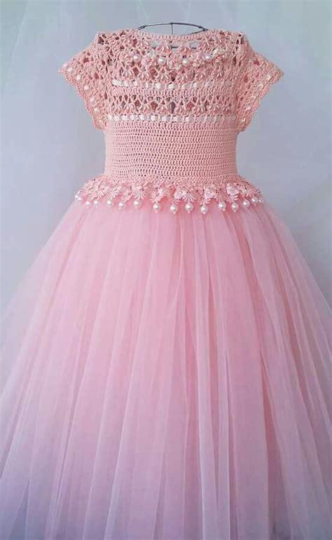 vestidos de tejido vestido de ni 241 a con detalles tejidos rosa tejidos