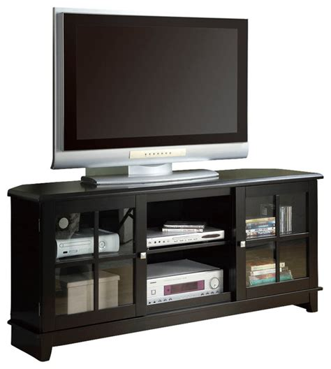 monarch specialties i 255 60 in tv console lowe s canada monarch specialties 3541 60 inch corner tv console in