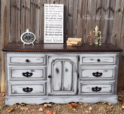 black and white distressed dresser farmhouse style dresser general finishes design center