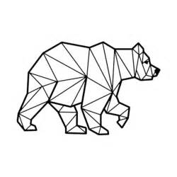 Create Wall Stickers geometric bear geometric t shirt teepublic
