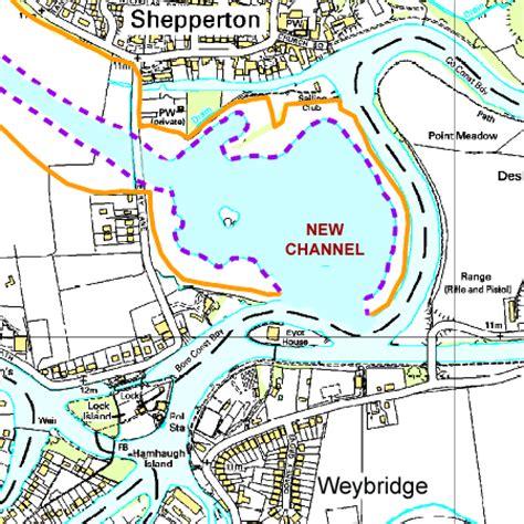 river thames scheme map flood diversion coming to weybridge