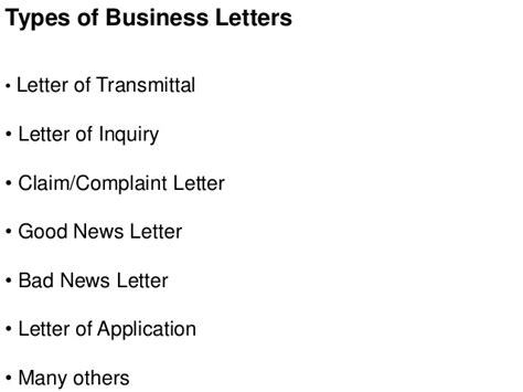 Business Letter Sle Types Business Letters Types 28 Images Different Types Of Business Letters The Best Letter Sle