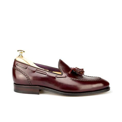 cordovan loafer tassel loafers in burgundy cordovan carmina