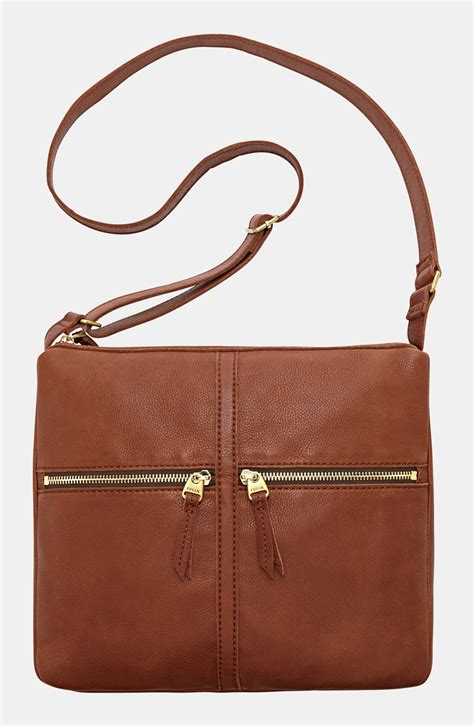 Fossil Erin 2zip Brown fossil erin crossbody bag in brown lyst
