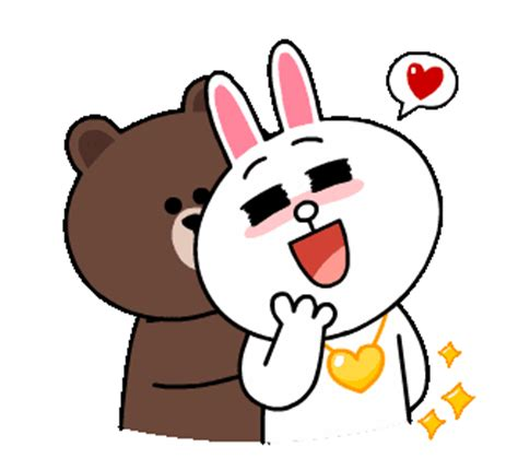 Kaos Line Emoticon Cony 15 line stickers brown cony s thrilling date free
