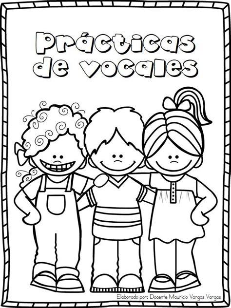 imagenes educativas para prescolar librito para practicar y repasar las vocales 1
