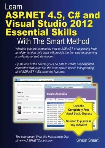 Tutorial Visual Studio 2012 Asp Net | buy special books learn asp net 4 5 c and visual