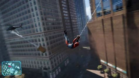 spider man swinging game spider man ps4 open world web swinging gameplay youtube