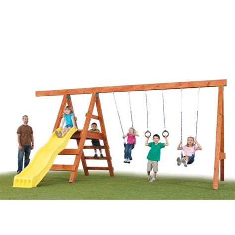 swing set kits without wood swing n slide pioneer custom kit project 150