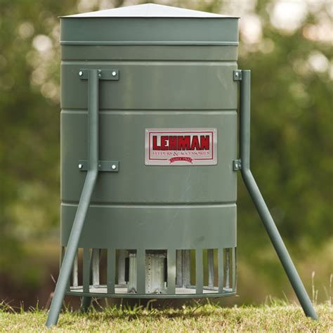 lehman h feeders 250lb quail turkey feeder