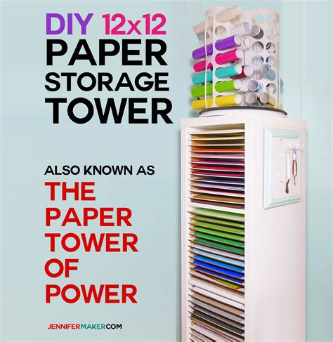 12x12 Craft Paper Storage - 12x12 paper storage diy vertical organizer for scrapbook