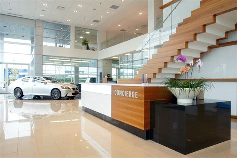 lexus dealership interior subtle plantings drive high design at lexus car dealership