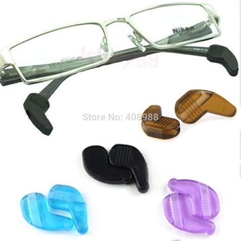 silicone eyeglasses sunglasses antiskid ear pads push on