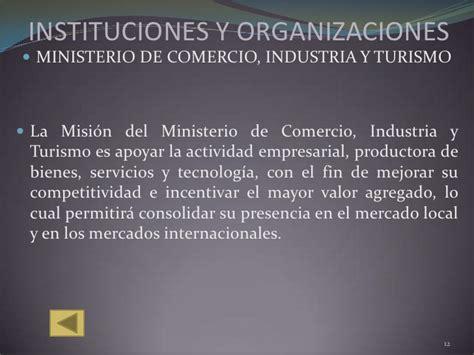 cadenas productivas relacionadas al turismo instituciones y organizaciones del comercio exterior