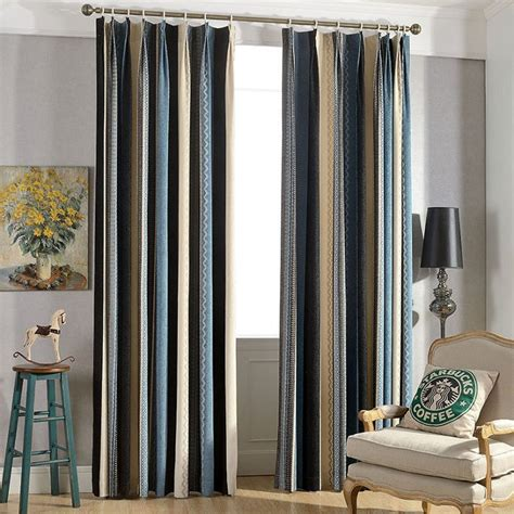 Brown And Green Curtains Designs Charming Living Room Curtain Ideas Beige Blue Stripes