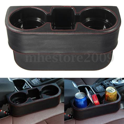 With Cup Holders by Universal Leather Car Seat Dual Cup Drink Bottle Holder