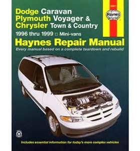 Chrysler Town And Country Repair Manual Dodge Caravan Plymouth Voyager And Chrysler Town And