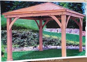 Outdoor Patio Gazebo 12x12 Yardistry 12 X 12 Wood Gazebo With Aluminum Roof
