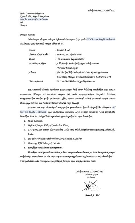 contoh surat lamaran kerja di alfamart wisata dan info sumbar
