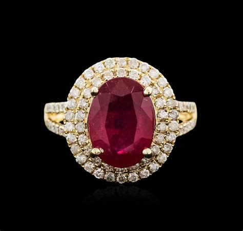 Ruby 7 25ct 14kt yellow gold 4 25ct ruby and ring
